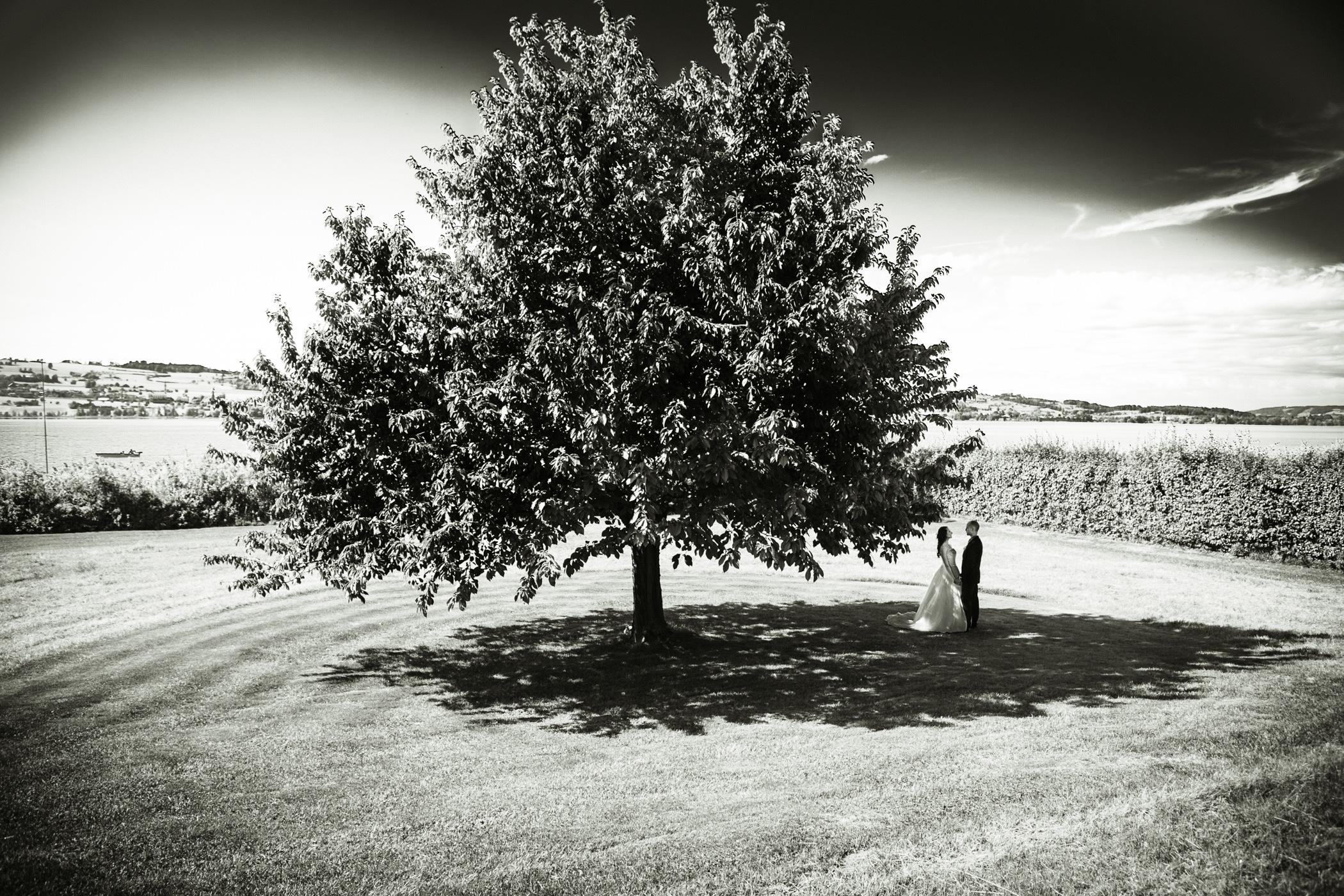 Hochzeitspaar alleine zu zweit