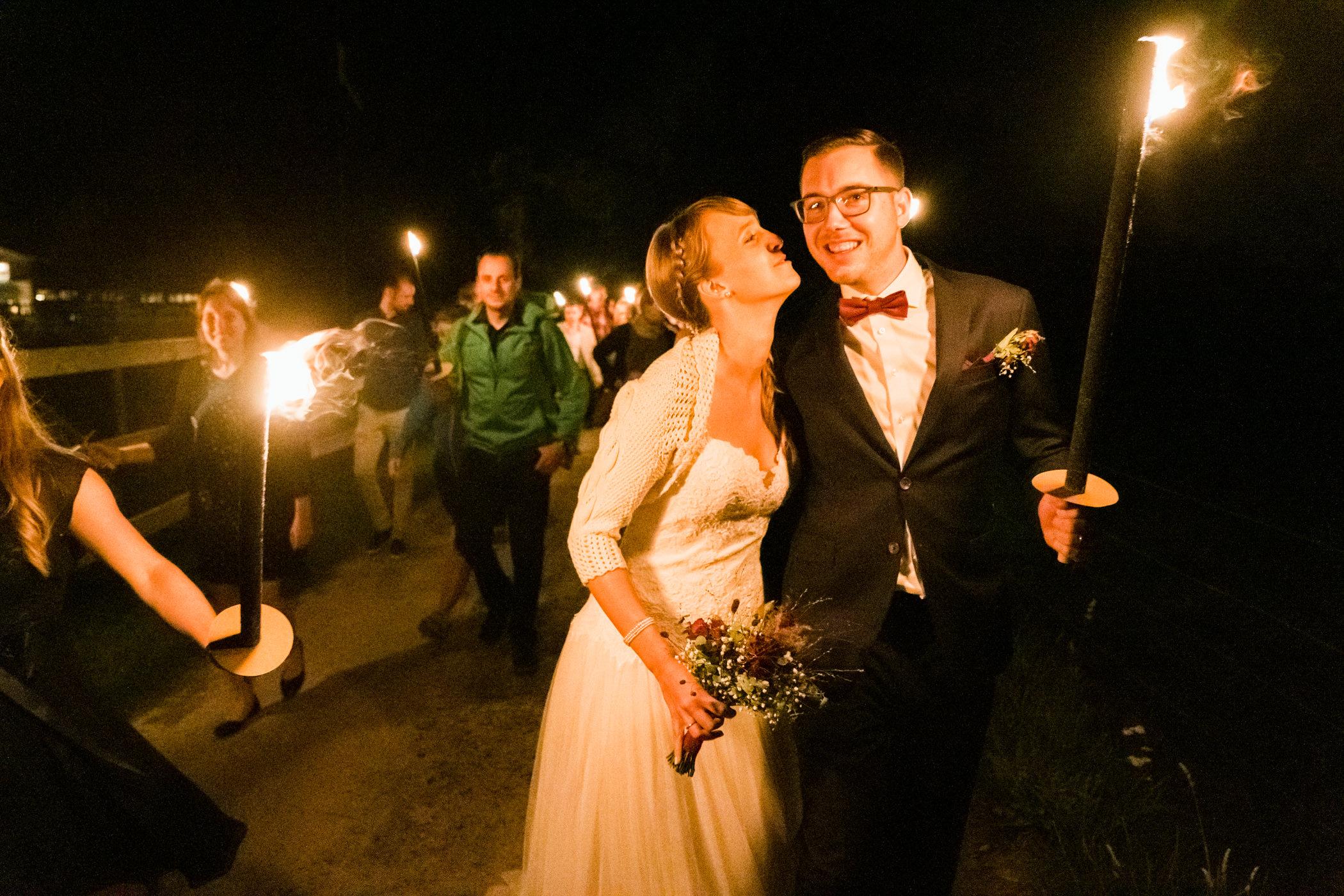 Brautpaar Nachtspaziergang Gurten Bern