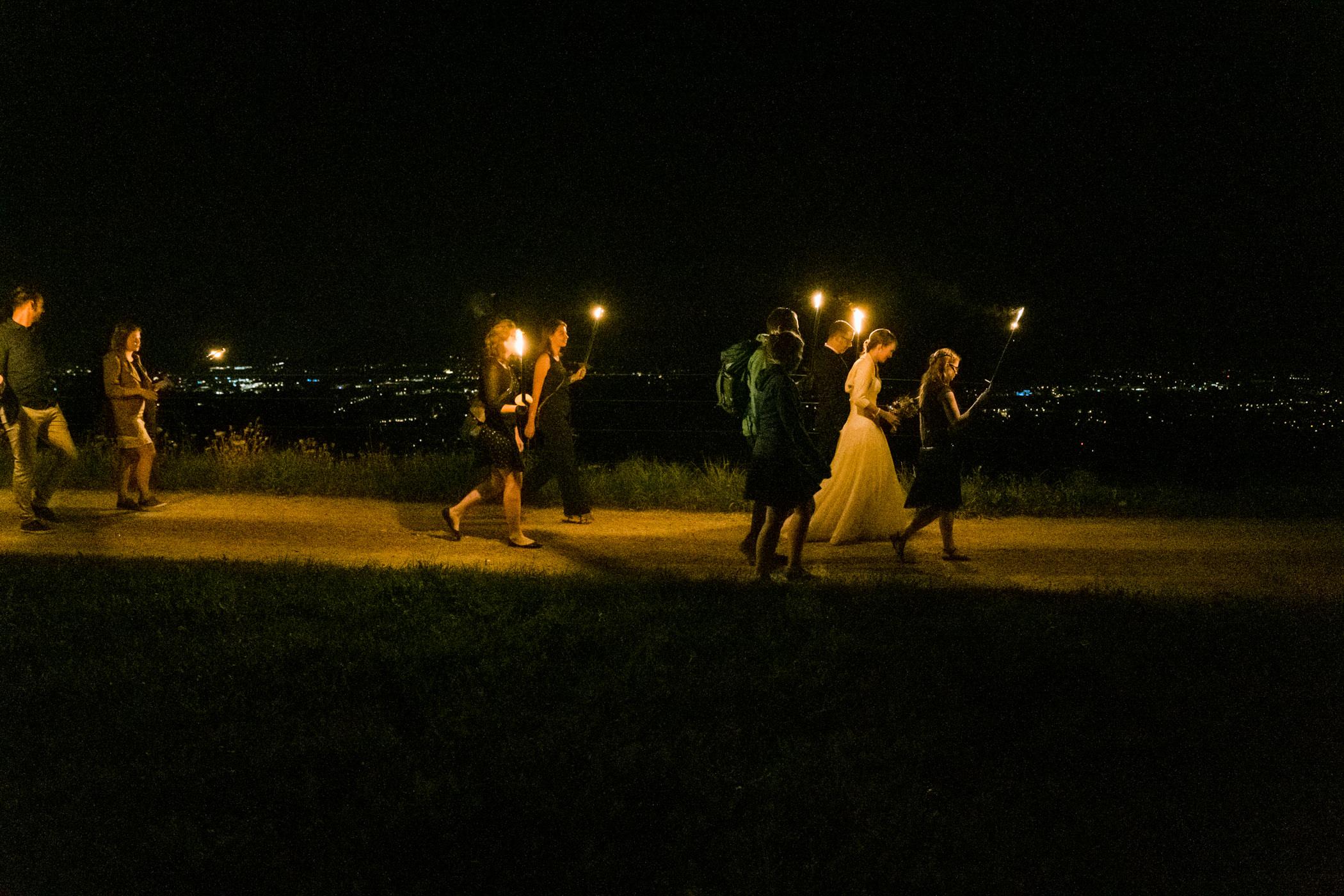Fackelabzug Gurten Bern Hochzeitsgesellschaft